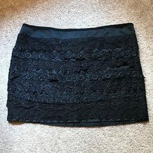 NWOT Black Crochet Mini Skirt